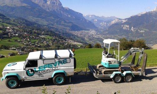 location mini pelle et transport Sallanches