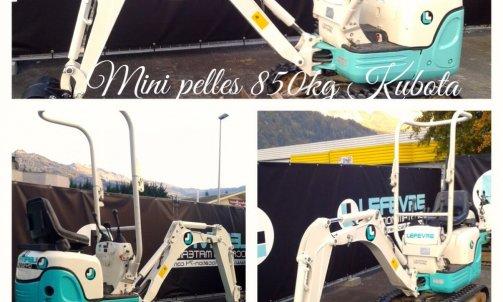 location mini pelle 850kg Sallanches